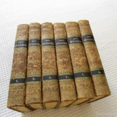 Libros antiguos: DON QUIJOTE DE LA MANCHA - MIGUEL DE CERVANTES SAAVEDRA - IMP. DE GORCHS - 6 TOMOS COMPLETA - 1832. Lote 58068997
