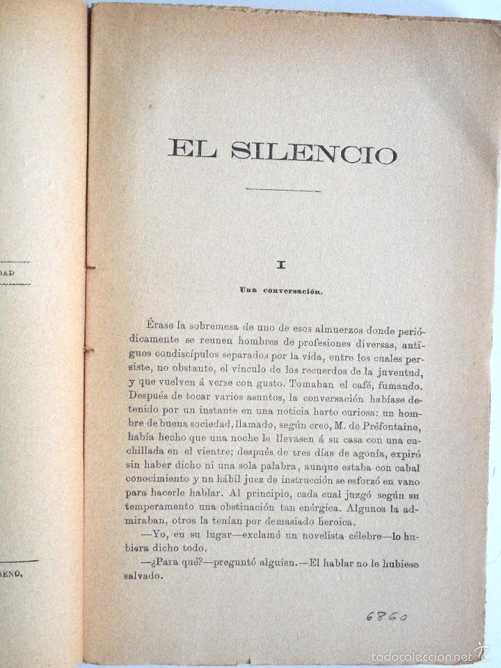 Libros antiguos: EL SILENCIO - EDUARDO ROD - ESTUDIO DE PARDO BAZÁN - PRINCIPIOS SIGLO XX - Foto 4 - 58091506
