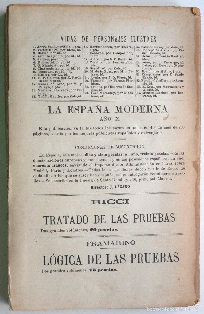 Libros antiguos: EL SILENCIO - EDUARDO ROD - ESTUDIO DE PARDO BAZÁN - PRINCIPIOS SIGLO XX - Foto 6 - 58091506