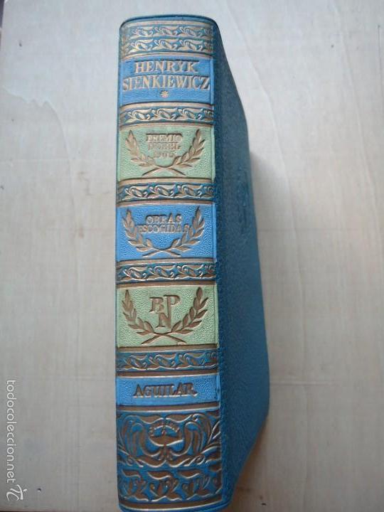 LIBRO OBRAS ESCOGIDAS DE HENRYK SIENKIEWICZ. TOMO 1º PREMIO NOBEL EN 1905.CON 3 OBRAS VER DETALLES. (Libros antiguos (hasta 1936), raros y curiosos - Literatura - Narrativa - Clásicos)