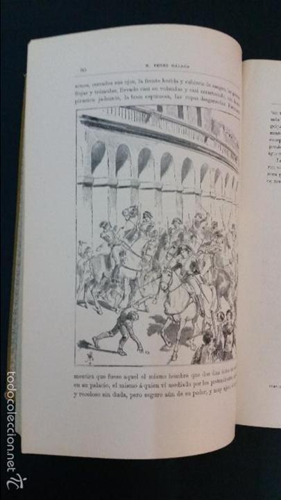Libros antiguos: 1882 - BENITO PÉREZ GALDÓS - EPISODIOS NACIONALES TOMO II - ILUSTRACIONES DE MÉLIDA - Foto 4 - 58397824