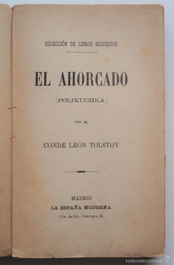Libros antiguos: EL AHORCADO (POLIKUCHKA) - CONDE LEON TOLSTOY - PRINCIPIOS SIGLO XX - Foto 5 - 58495877