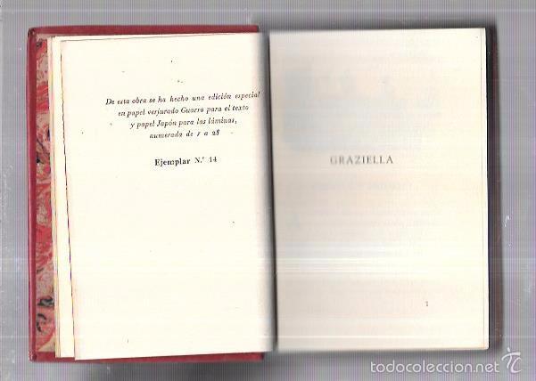 Libros antiguos: MONTANER Y SIMON. GRAZIELLA. A. DE LAMARTINE. SERIE LIMITADA. VER FOTOS. EXCEPCIONAL. AÑOS 40 - Foto 2 - 58575326