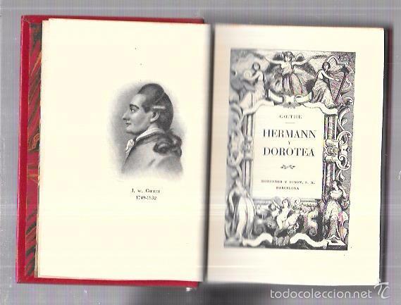 MONTANER Y SIMON. HERMANN Y DOROTEA. GOETHE. SERIE LIMITADA. VER FOTOS. GRAN PAPEL. AÑOS 40 (Libros antiguos (hasta 1936), raros y curiosos - Literatura - Narrativa - Clásicos)