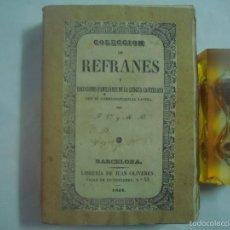 Libros antiguos: COLECCIÓN DE REFRANES Y LOCUCIONES FAMILIARES DE LENGUA CASTELLANA.1841.1A EDICIÓN. Lote 58615340