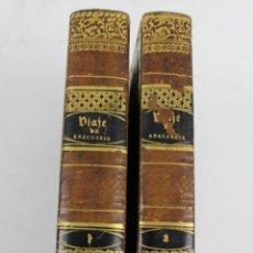 Libros antiguos: L-3465. COMPENDIO DEL VIAGE DEL JOVEN ANACARSIS A LA GRECIA. JUAN SANTIAGO BARTELEMI. 2 TOMOS. AÑO 1. Lote 59502779