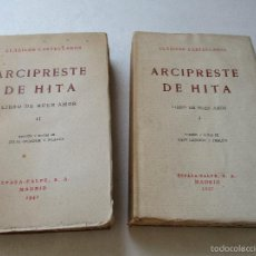 Libros antiguos: CLÁSICOS CASTELLANOS, ARCIPRESTE DE HITA,LIBRO DEL BUEN AMOR -2 TOMOS- 1937/1941-ESPASA-CALPE MADRID. Lote 60361003