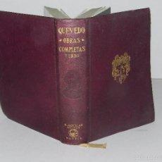 Libros antiguos: (M) QUEVEDO , FRANCISCO DE - OBRAS COMPLETAS VERSO , EDT AGUILAR , MADRID 1932. Lote 106061615