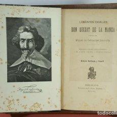 Libros antiguos: LC-069. L'ENGINYOS CAVALLER DON QUIXOT DE LA MANXA. CERVANTES. ANTONI BULBENA. 1891. . Lote 61994840