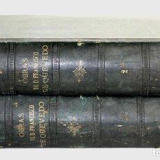 Libros antiguos - 8036 - OBRAS DE FRANCISCO QUEVEDO. TOMOS I Y II(VER DESCRIP). EDIT. TERRAZA, ALIENA Y CIA. 1882. - 62354516