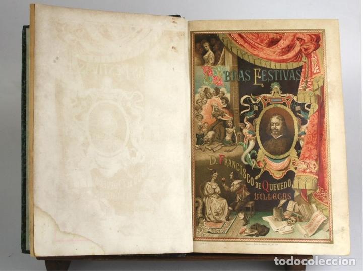 Libros antiguos: 8036 - OBRAS DE FRANCISCO QUEVEDO. TOMOS I Y II(VER DESCRIP). EDIT. TERRAZA, ALIENA Y CIA. 1882. - Foto 3 - 62354516