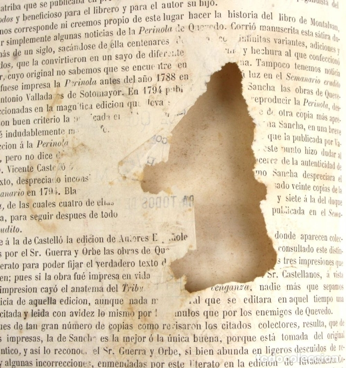 Libros antiguos: 8036 - OBRAS DE FRANCISCO QUEVEDO. TOMOS I Y II(VER DESCRIP). EDIT. TERRAZA, ALIENA Y CIA. 1882. - Foto 8 - 62354516