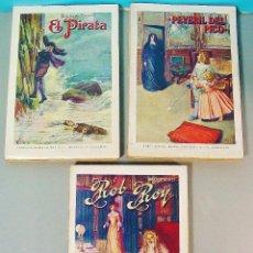 Libros antiguos: 3 VOLÚMENES DE WALTER SCOTT. EDITORIAL RAMÓN SOPENA. AÑOS 30.. Lote 62496400
