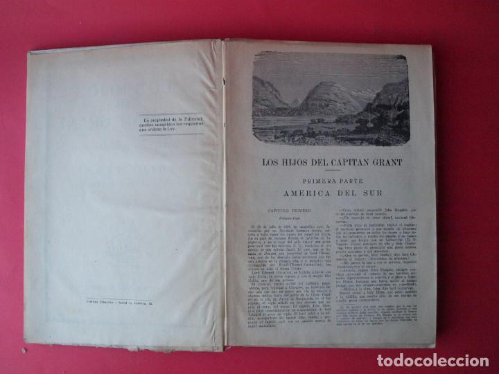 Libros antiguos: LOS HIJOS DEL CAPITÁN GRANT - JULIO VERNE - EDITORIAL SÁENZ DE JUBERA - CIRCA 1930 - Foto 3 - 64343819