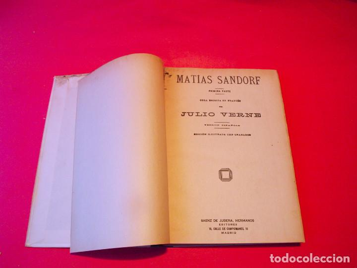 Libros antiguos: MATÍAS SANDORF - JULIO VERNE - EDITORIAL SÁENZ DE JUBERA - CIRCA 1930 - Foto 4 - 64350407