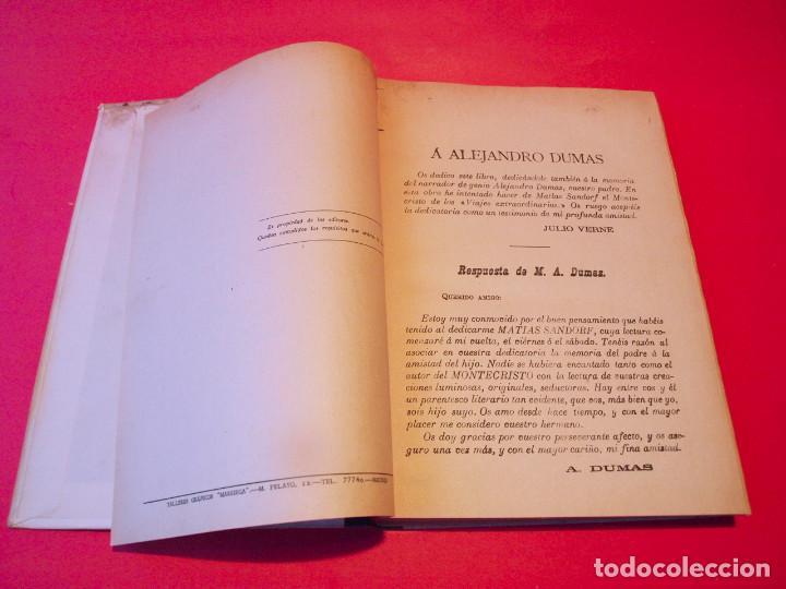 Libros antiguos: MATÍAS SANDORF - JULIO VERNE - EDITORIAL SÁENZ DE JUBERA - CIRCA 1930 - Foto 5 - 64350407