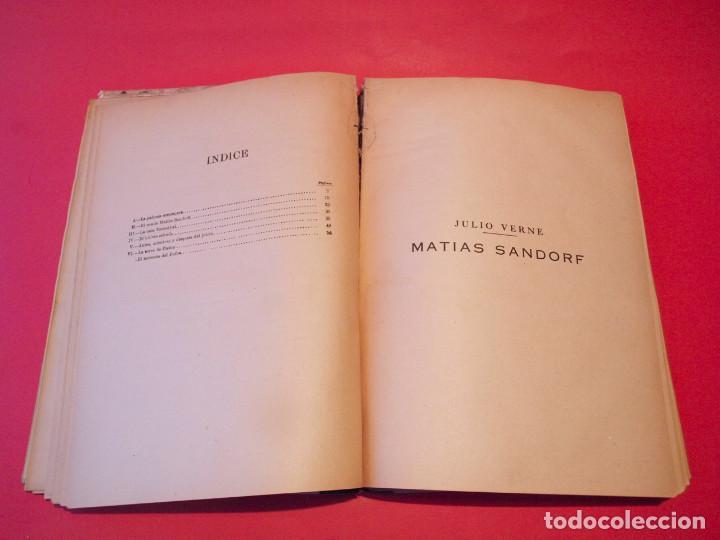 Libros antiguos: MATÍAS SANDORF - JULIO VERNE - EDITORIAL SÁENZ DE JUBERA - CIRCA 1930 - Foto 10 - 64350407