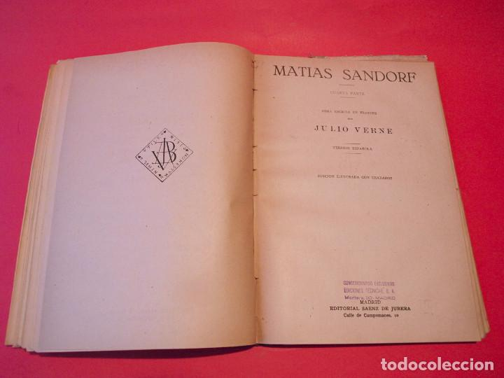 Libros antiguos: MATÍAS SANDORF - JULIO VERNE - EDITORIAL SÁENZ DE JUBERA - CIRCA 1930 - Foto 13 - 64350407