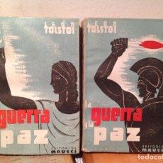 Libros antiguos: LA GUERRA Y LA PAZ TOLSTOI 2TOMOS. Lote 68426890