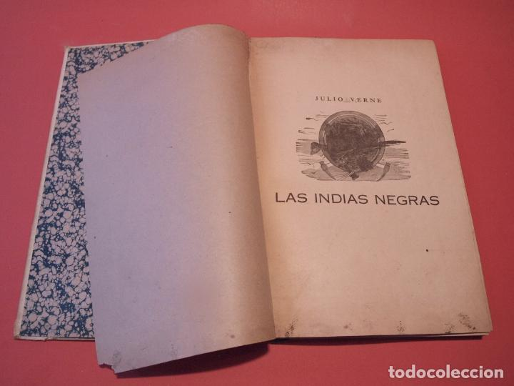 Libros antiguos: LAS INDIAS NEGRAS, LAS TRIBULACIONES DE UN CHINO EN CHINA - JULIO VERNE - ED. SÁENZ DE JUBERA - Foto 3 - 64454843