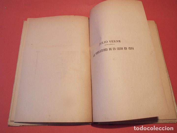 Libros antiguos: LAS INDIAS NEGRAS, LAS TRIBULACIONES DE UN CHINO EN CHINA - JULIO VERNE - ED. SÁENZ DE JUBERA - Foto 8 - 64454843