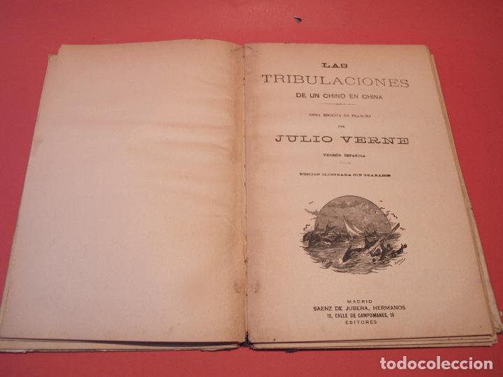 Libros antiguos: LAS INDIAS NEGRAS, LAS TRIBULACIONES DE UN CHINO EN CHINA - JULIO VERNE - ED. SÁENZ DE JUBERA - Foto 9 - 64454843