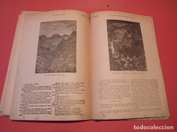 Libros antiguos: LAS INDIAS NEGRAS, LAS TRIBULACIONES DE UN CHINO EN CHINA - JULIO VERNE - ED. SÁENZ DE JUBERA - Foto 10 - 64454843