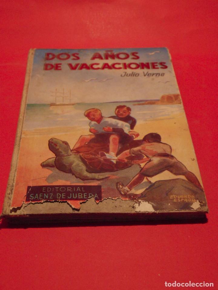 DOS AÑOS DE VACACIONES - JULIO VERNE - EDITORIAL SÁENZ DE JUBERA - AÑOS 30 (Libros antiguos (hasta 1936), raros y curiosos - Literatura - Narrativa - Clásicos)