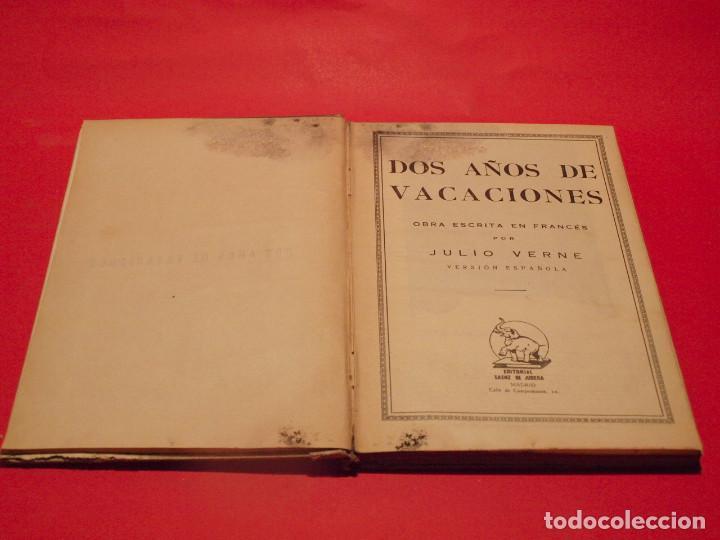 Libros antiguos: DOS AÑOS DE VACACIONES - JULIO VERNE - EDITORIAL SÁENZ DE JUBERA - AÑOS 30 - Foto 5 - 64499123