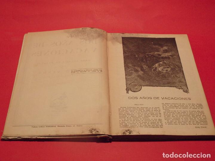 Libros antiguos: DOS AÑOS DE VACACIONES - JULIO VERNE - EDITORIAL SÁENZ DE JUBERA - AÑOS 30 - Foto 6 - 64499123