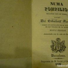 Libros antiguos: NUMA POMPILIO 2º REY DE ROMA POEMA CABALLERO FLORIAN IMPR.SAURI 1829 BARCELONA. Lote 64728711