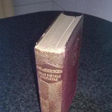 Libros antiguos: JOSE DE ESPRONCEDA, OBRAS POETICAS COMPLETAS,. Lote 64937355