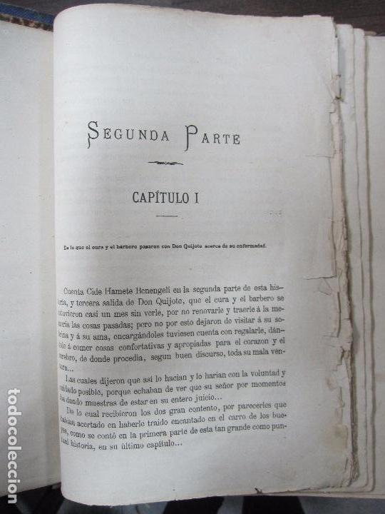 Libros antiguos: DON QUIJOTE DE LA MANCHA. TOMO II. MIGUEL DE CERVANTES. BIBLIOTECA UNIVERSAL ILUSTRADA.1875. - Foto 6 - 65446374