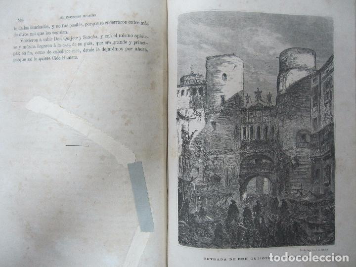 Libros antiguos: DON QUIJOTE DE LA MANCHA. TOMO II. MIGUEL DE CERVANTES. BIBLIOTECA UNIVERSAL ILUSTRADA.1875. - Foto 9 - 65446374