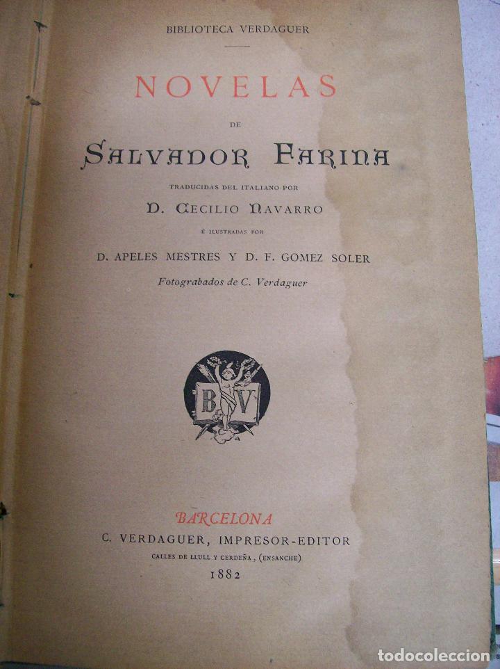 Libros antiguos: NOVELAS DE SALVADOR FARINA. Año 1882 - Foto 2 - 65842054