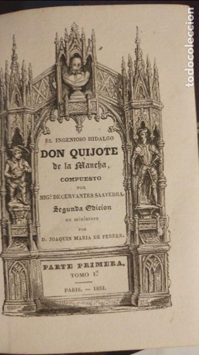 Libros antiguos: DON QUIJOTE DE LA MANCHA ED. FERRER 1832 - Foto 2 - 67125237