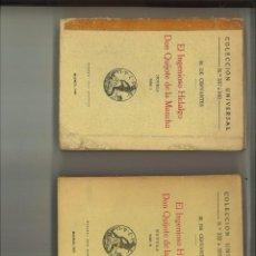 Libros antiguos: EL INGENIOSO HIDALDO DON QUIJOTE DE LA MANCHA. MIGUEL DE CERVANTES. Lote 67853405