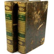 Old books - DON QUIOTE DE LA MANCHA, 2 TOMOS. AÑO 1839-1840. CON LÁMINAS, Antonio bergnes ed, 18x26cm. - 69255073