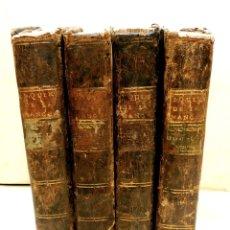 Libros antiguos: DON QIXOTE DE LA MANCHA - QUIJOTE EDICIÓN JUAN SOLÍS -1755- 4 TOMOS. Lote 239750495