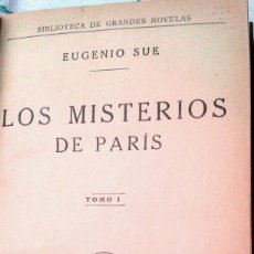 Libros antiguos: LOS MISTERIOS DE PARÍS 1935 (1ª EDICIÓN). Lote 73023859