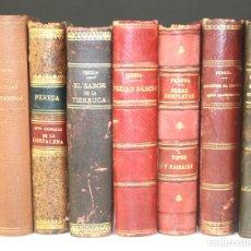Libros antiguos: 5075-2 - OBRAS COMPLETAS DE JOSÉ M.DE PEREDA. 7 VOLUM(VER DESCRIP). EDIT.TELLO. 1883-1919.. Lote 74962159