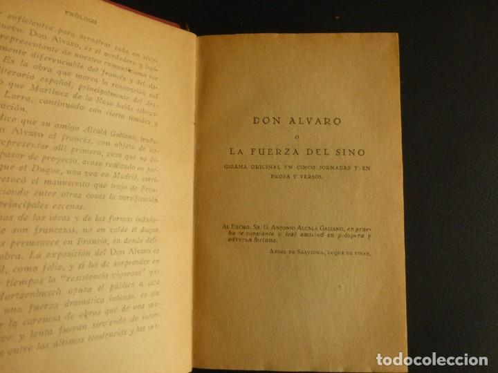 Libros antiguos: DON ÁLVARO O LA FUERZA DEL SINO. DUQUE DE RIVAS - Foto 3 - 75807891