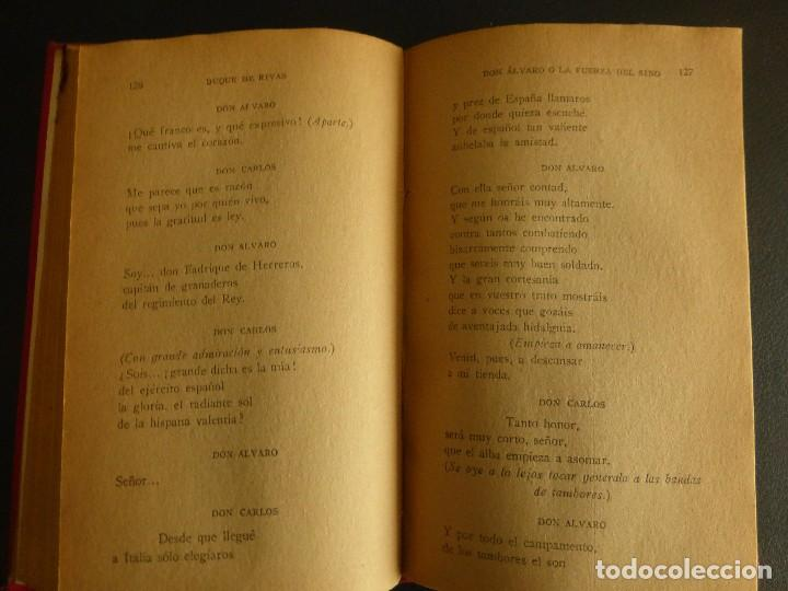 Libros antiguos: DON ÁLVARO O LA FUERZA DEL SINO. DUQUE DE RIVAS - Foto 4 - 75807891