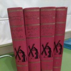 Libros antiguos: DON QUIJOTE DE LA MANCHA- 4 VOLÚMENES - ENCUDERNACIÓN DURA-. Lote 75835767