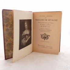 Libros antiguos: LIBRO ANTIGUO LETTRES CHOISIES DE MADAME DE SEVIGNE. Lote 77136697