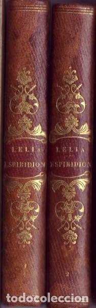 Libros antiguos: Lelia y Espiridión (2 tomos). Sand, Jorge. Juan Oliveres, Impresor. Barcelona, 1843. - Foto 4 - 77603513
