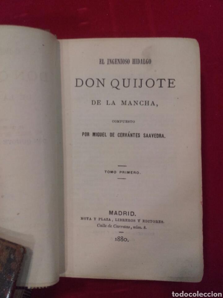 Libros antiguos: El ingenioso Hidalgo Don Quijote de la Mancha. Dos tomos. Moya y Plaza. - Foto 2 - 167668157