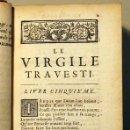 Libros antiguos: SCARRON, JEAN - LE VIRGILE TRAVESTI EN VERS BURLESQUES DE MONSIUER SCARRON. TOME SECOND - PARÍS 1705. Lote 79952643