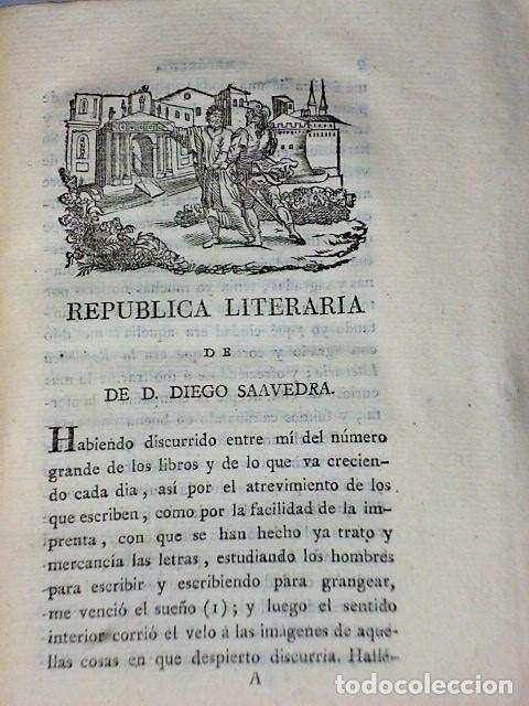 Libros antiguos: REPÚBLICA LITERARIA Y DIALOGO DE LAS LOCURAS DE EUROPA (1819) - Foto 2 - 81134088