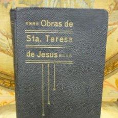 Libros antiguos: OBRAS DE SANTA TERESA DE JESÚS. EDICIÓN Y NOTAS DEL P. SILVERIO DE SANTA TERESA. BURGOS 1.922.. Lote 83266320